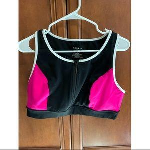 TORRID SZ1 Pink & Black Sports Bra